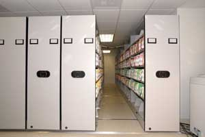 movable shelving electronically controlled
